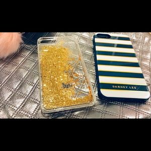 Dabney Lee blue and gold IPhone 7 Plus bundle